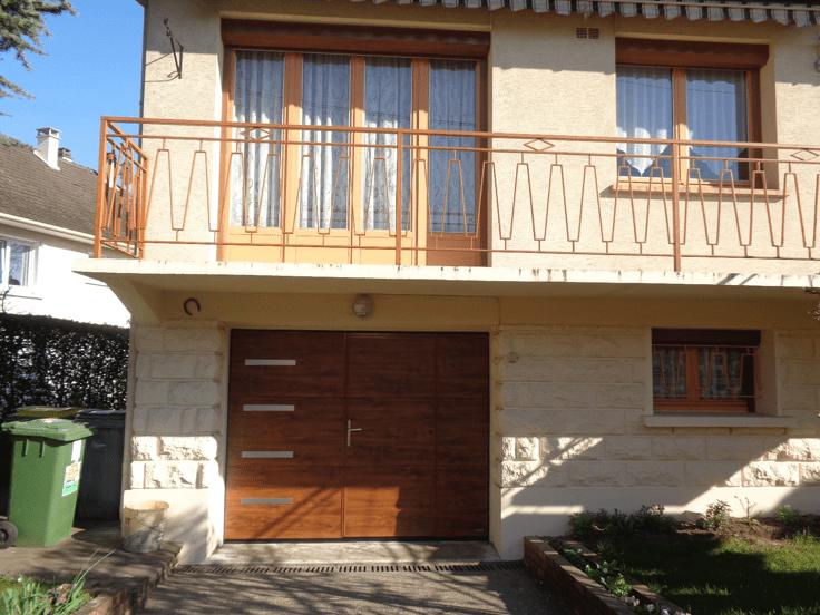Installation porte de garage sectionnelle motoris e avec - Installer une porte de garage sectionnelle motorisee ...